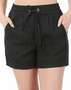 Maggie Linen Shorts - LINEN DRAWSTRING-WAIST SHORTS WITH POCKETS