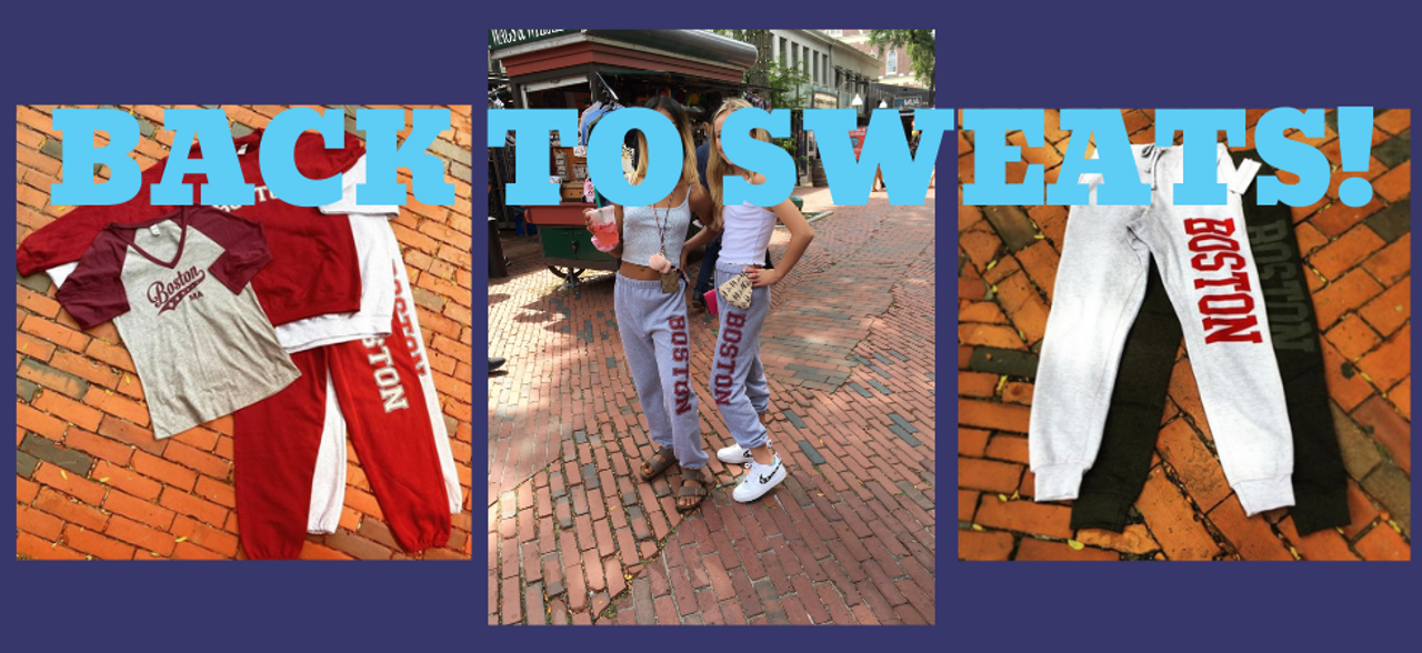 Boston sweatpants, sweatshirts, hoodies and joggers