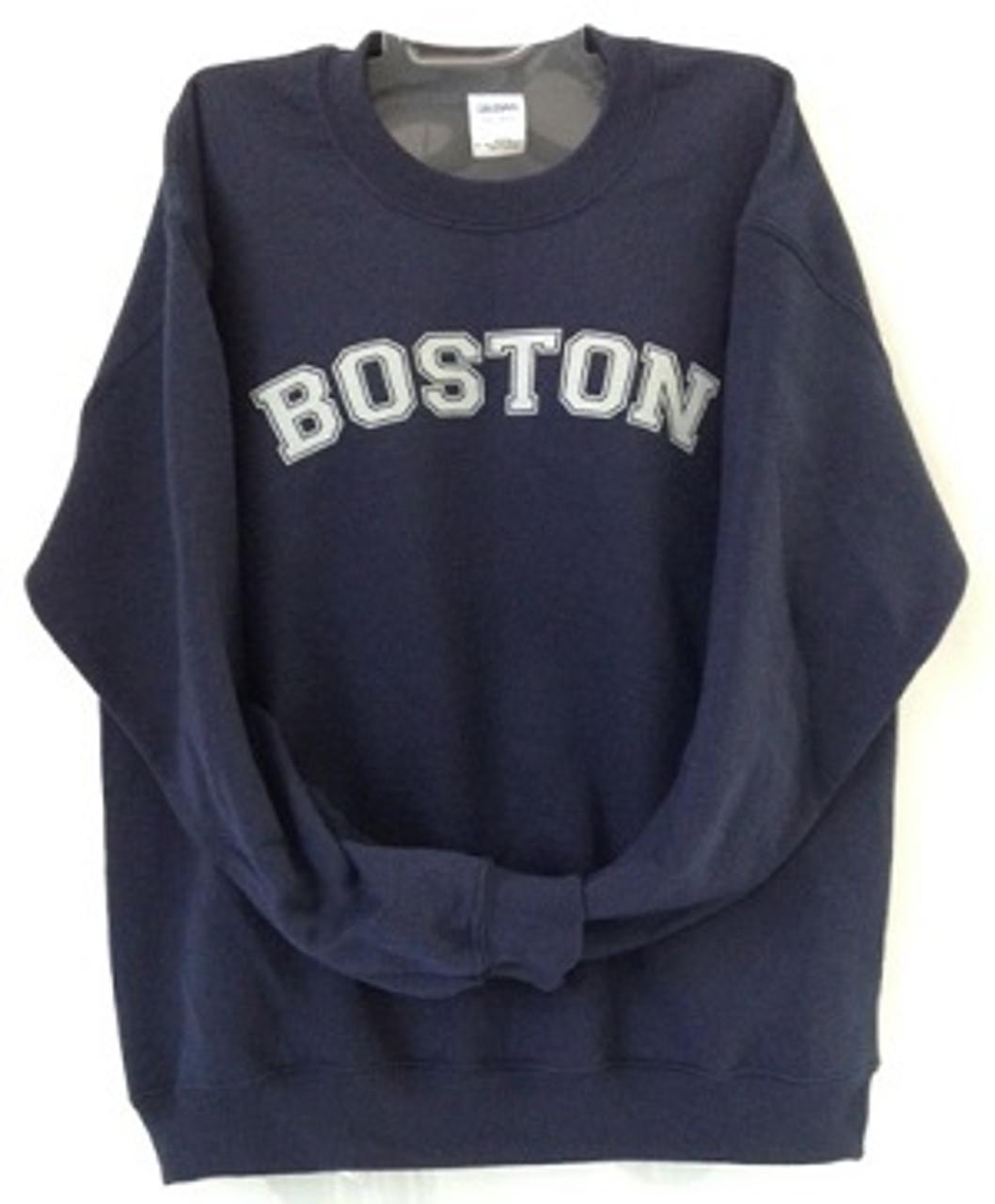 Dalliance Boxers Boston Sweatshirt Maroon with Gray Boston Imprint