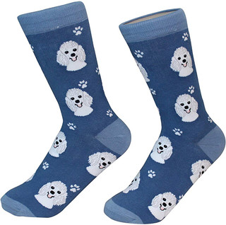 White Poodle Socks by Sock Daddy