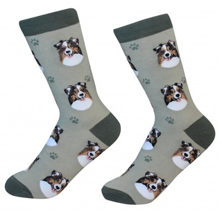 Australian Shepherd Socks by Sock Daddy