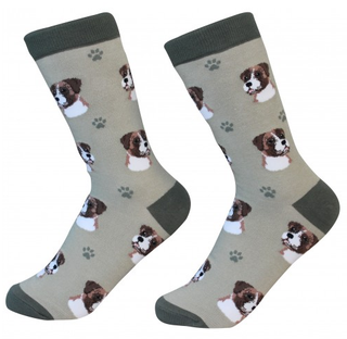 Boxer Dog Socks by Sock Daddy