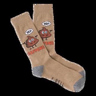 """""""It"""" Happens poop emoji socks for men by K.Bell"""