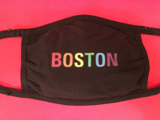 Boston in Rainbow Colors face mask