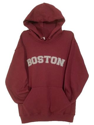 Boston Hooded Pullover Sweatshirt - maroon