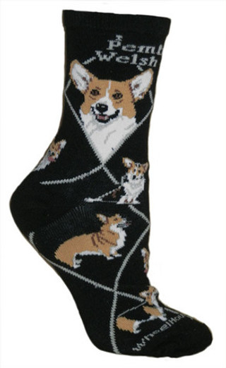Pembroke Welsh Corgi in black by Wheel House Designs