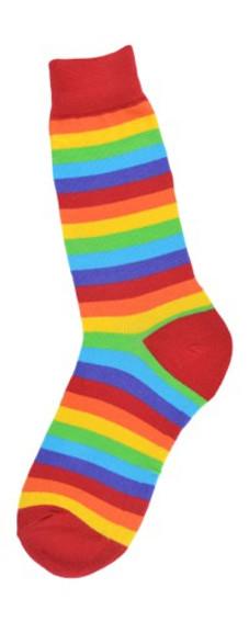 Rainbow Crew Socks for Men by Foot Traffic