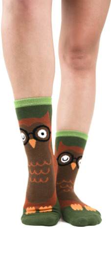 Owl slipper socks by Foot Traffic