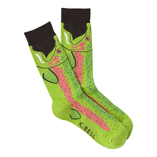 Leg Eater Trout Socks for Men by K. Bell