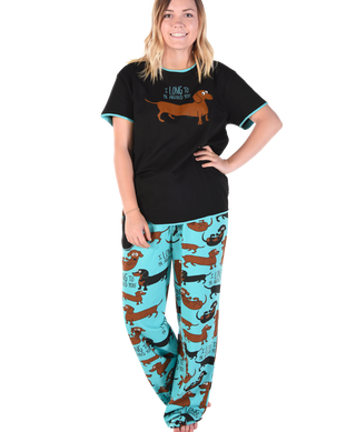 I Long to be Around You Dachshund Pajama set by Lazy one