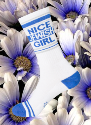 NICE JEWISH GIRL socks by Gumball Poodle