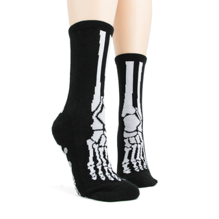 Skeleton Bones Slipper Socks by Foot Traffic