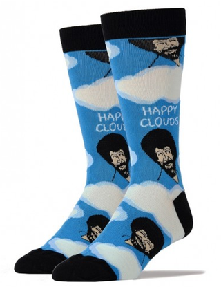Bob Ross Happy Clouds Socks by Oooh Yeah!