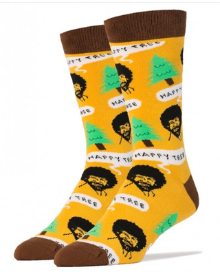 Bob Ross Happy Trees Socks by Oooh Yeah!
