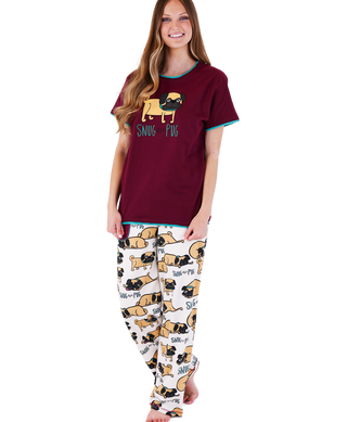 Snug as a Pug Pajama Set by Lazy One