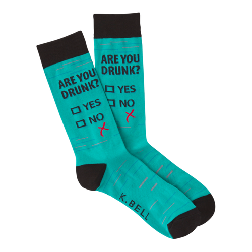 Are You Drunk Socks for Men by K.Bell