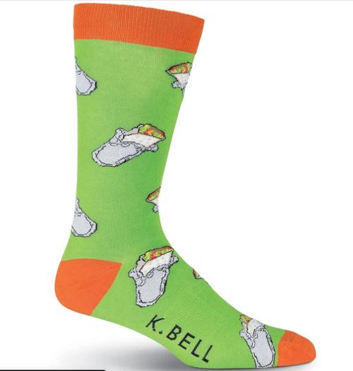 Burrito Socks for Men by K.Bell