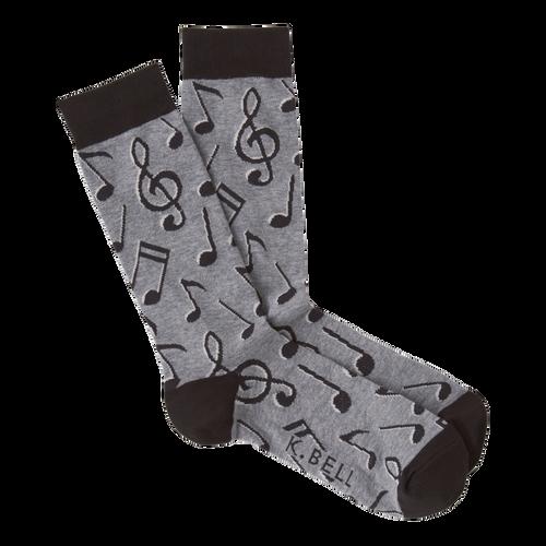 Men's musical notes socks by K.Bell
