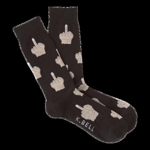 Men's Middle Finger socks by K. Bell