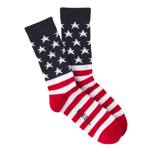 American Flag Socks for Men by K.Bell