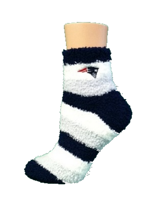 New England Patriots Fuzzy Socks by For Bare Feet