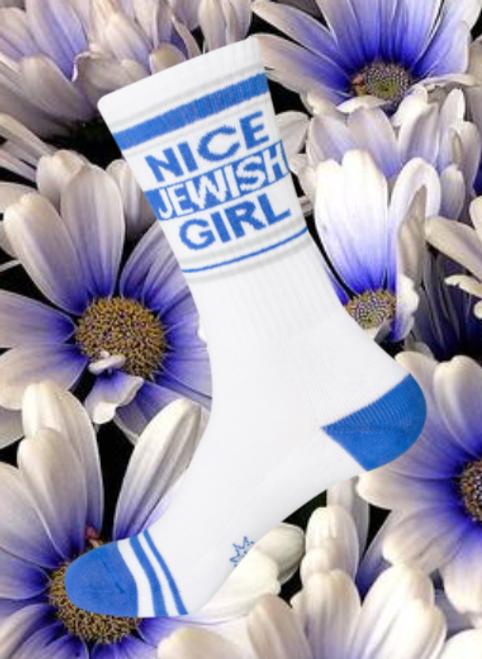 NICE JEWISH GIRL socks by Gumball Poodle