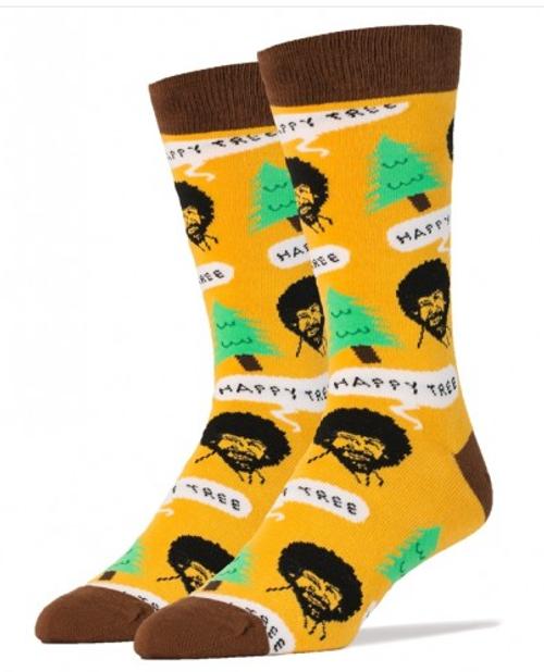 Bob Ross Happy Trees Socks by Oooh Yeah!