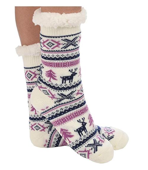 Sherpa Slipper Socks by Snoozies