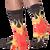 Fire Socks for Men by K. Bell