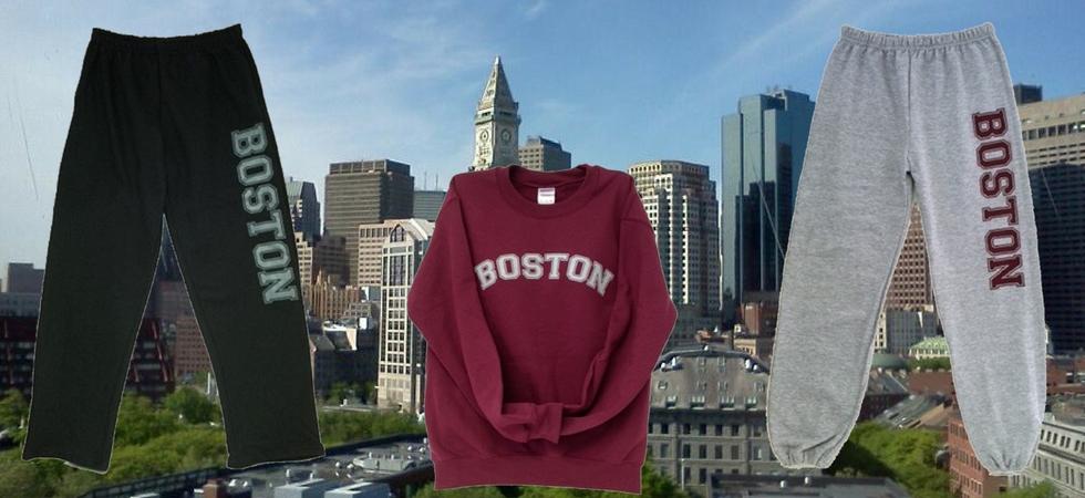 Boston Sweatpants and Sweatshirts