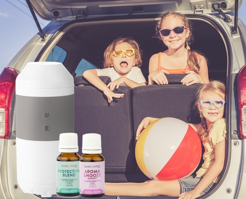 Travel Vaporiser + 2 Essential Oils