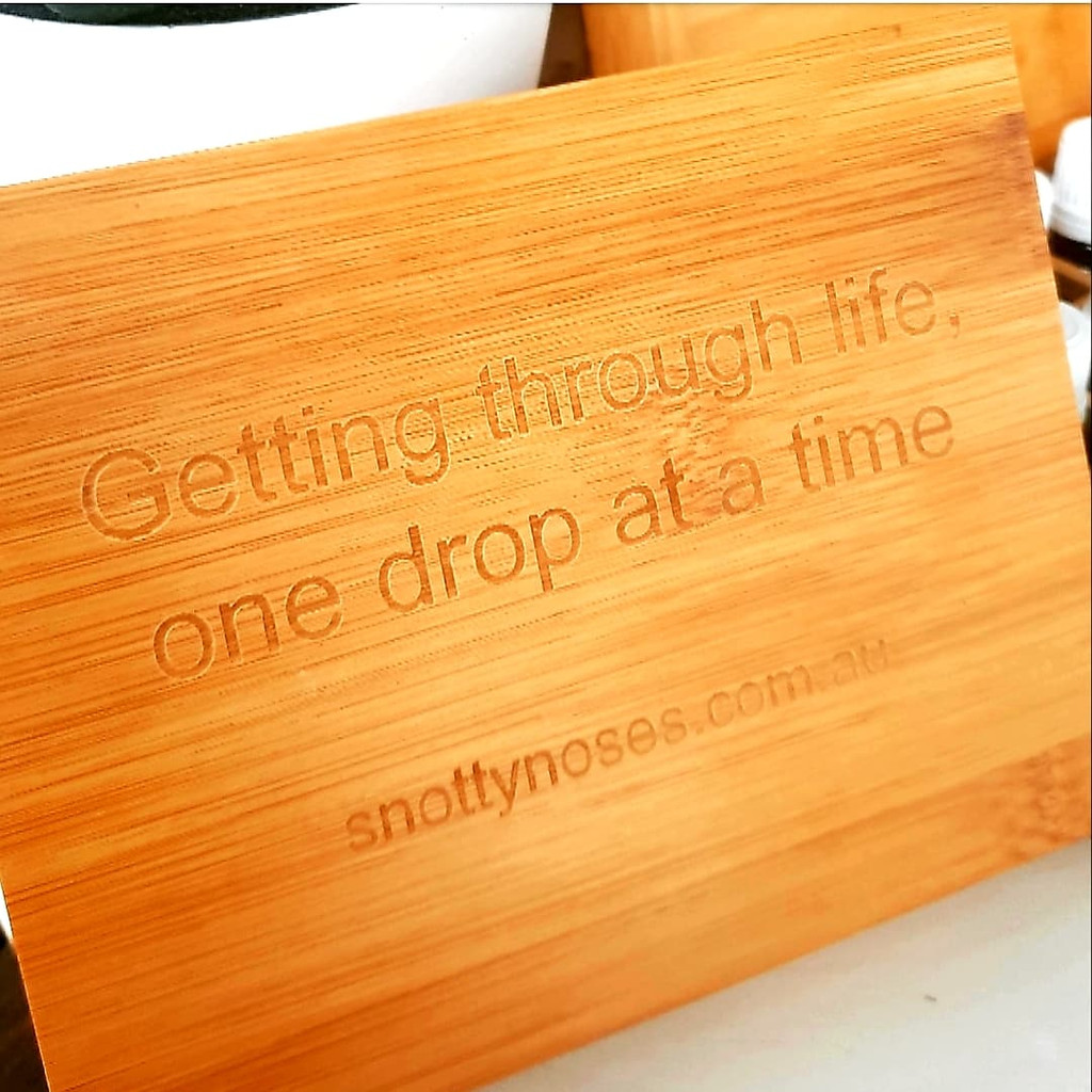 "Engraved with the quote ""Getting through life one drop at a time"""