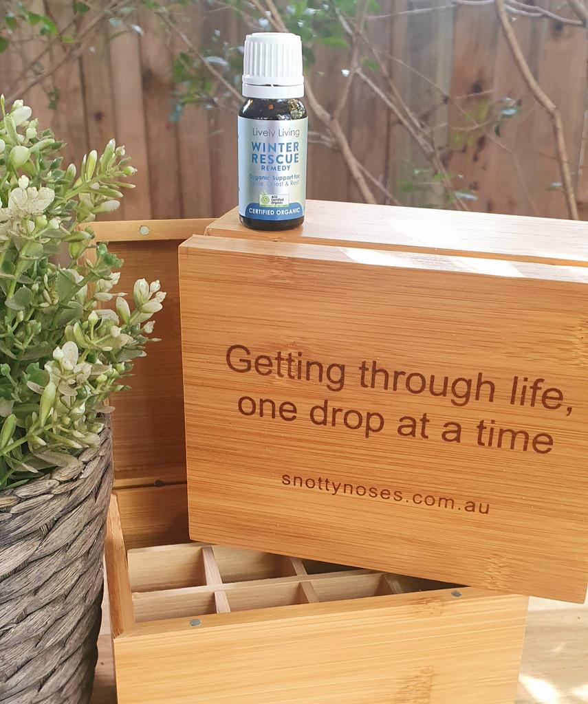 Winter Rescue Oil and Bamboo Oil Storage Box