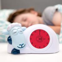 Sam Sheep teaches sleep and wake up times