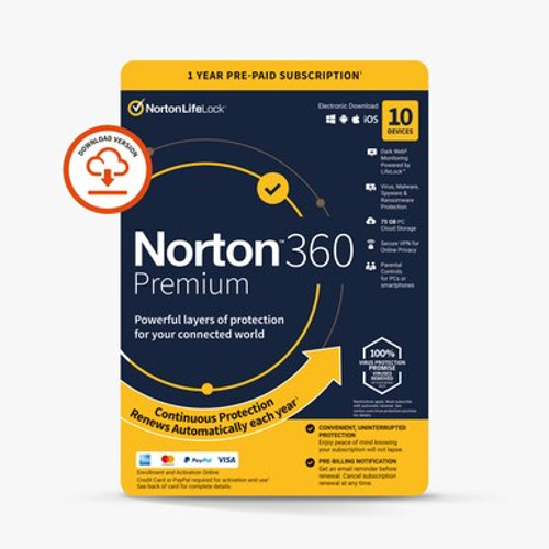 Norton premium 10 device package