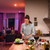 woman in kitchen cooking with philips hue bulbs