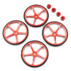 Yeah Racing Aluminium Set Up Wheels for 1:10 M Chassis MTC Red
