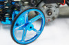 Yeah Racing Aluminium Set Up Wheels for 1:10 M Chassis MTC Black