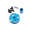 Yeah Racing Aluminium Spur Gear Adaptor Set for Tamiya TT02 Blue