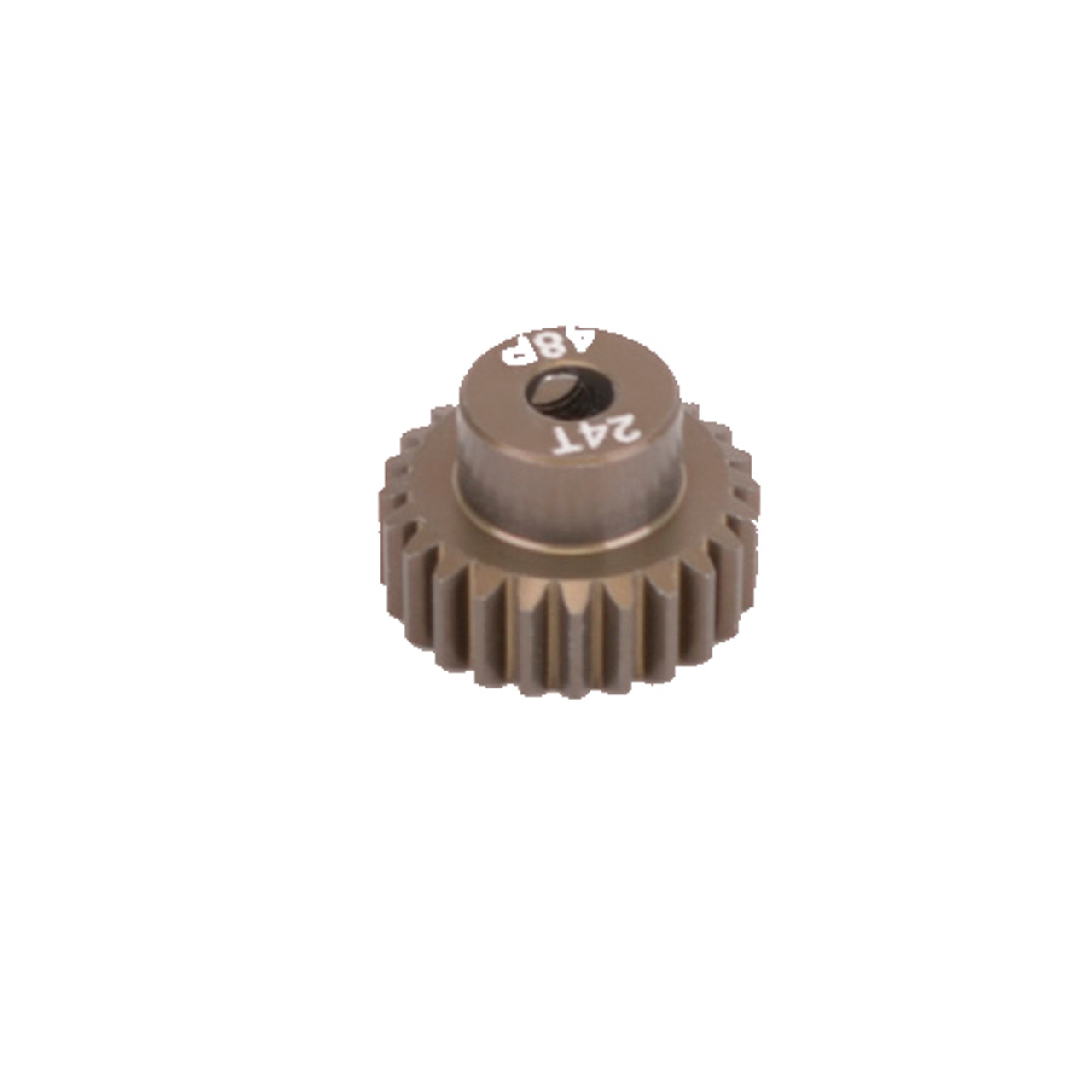 7075 Hard CR4824 Core RC Pinion Gear 48DP 24T