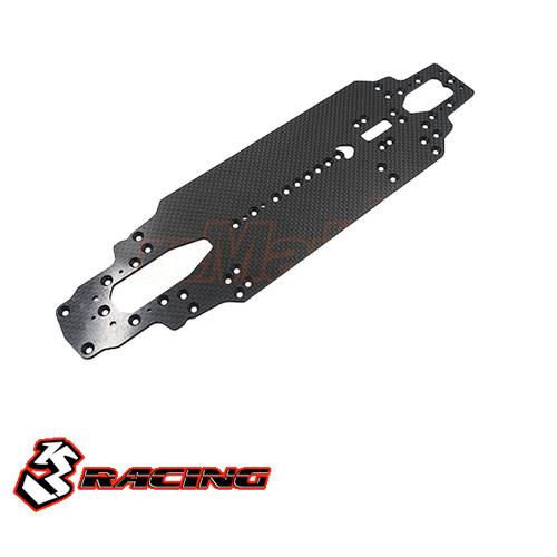 Graphite Main Chassis For 3RACING SAKURA M4 PRO