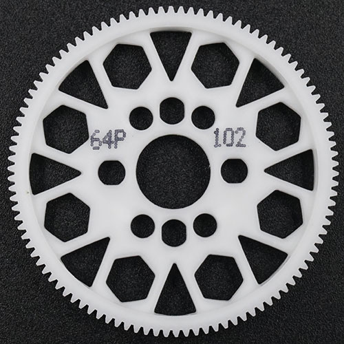 Yeah Racing 102T Delrin Spur Gear 64DP for 1/10th Touring & Drift