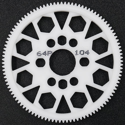 Yeah Racing 104T Delrin Spur Gear 64DP for 1/10th Touring & Drift