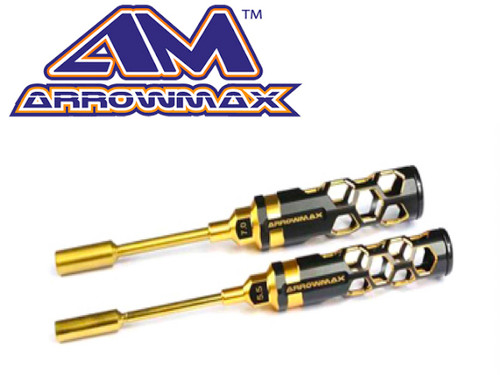 Arrowmax Nut Driver Set 5.5 & 7.0x100mm Black Golden