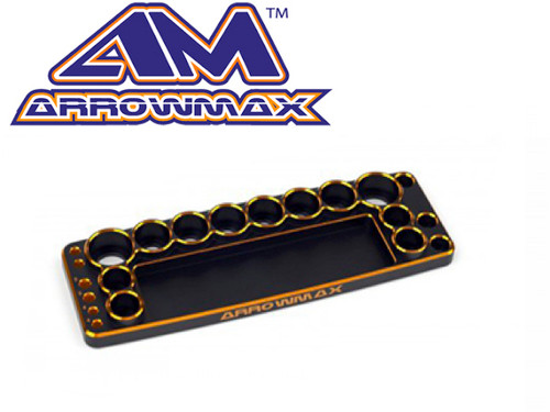 Arrowmax Black/Golden Tool Base for 1/10th Cars