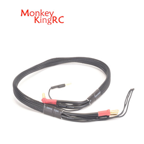 Monkey King RC 2S Charge Lead 4-5mm Connectors Black