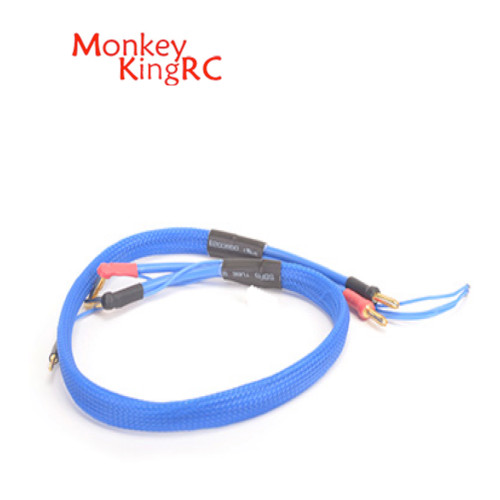 Monkey King RC 2S Charge Lead 4-5mm Connectors Blue
