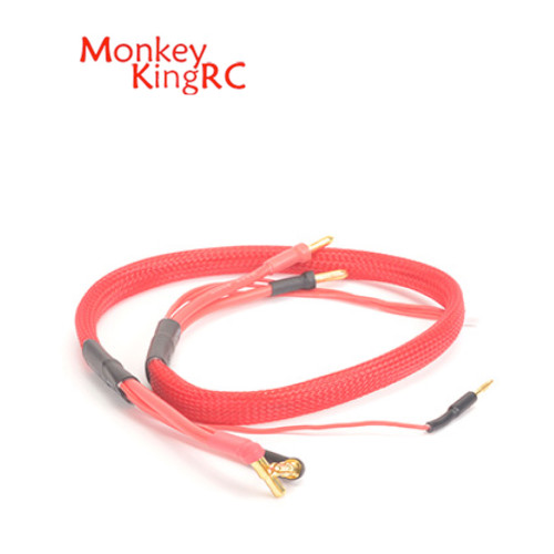 Monkey King RC 2S Charge Lead 4-5mm Connectors Red