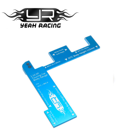 Yeah Racing 1/10 EP Touring Car Body Gauge For ISTC BRCA Blue