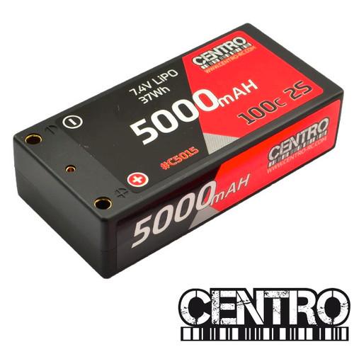 CENTRO 2s Shorty 5000MAH 100C Competition LiPo